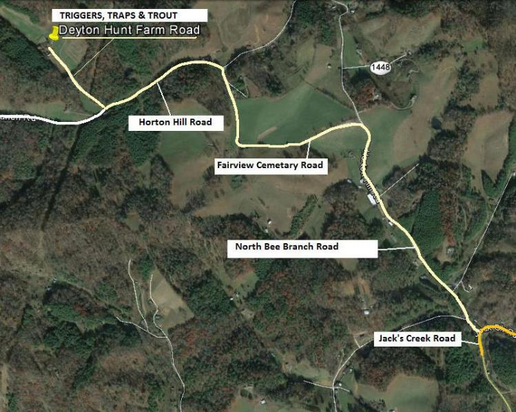 Triggers Traps Trout - Us 19e burnsville to spruce pine right of way map